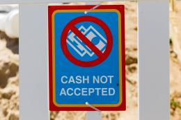 Cash not accepted